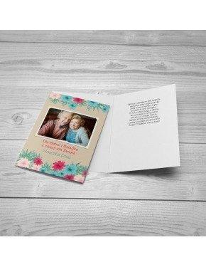 Kartka Floral dla Dziadków
