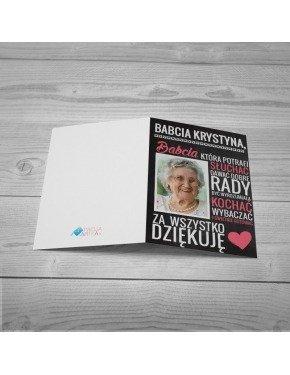 Kartka za co kocham Babcie