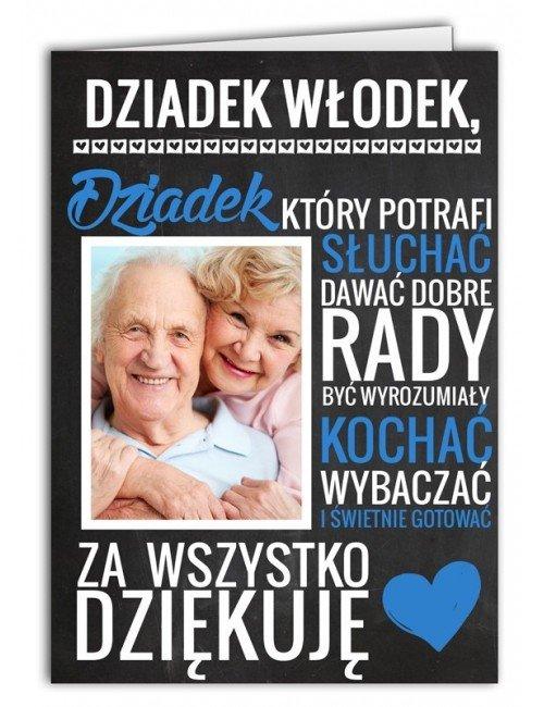 Kartka Za co kocham Dziadka