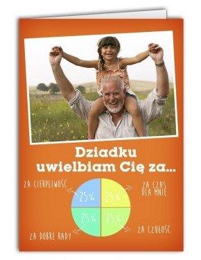 Kartka Wykres dla Dziadka