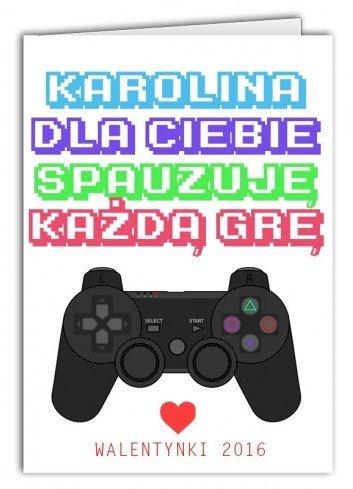 Kartka Walentynkowa Gra