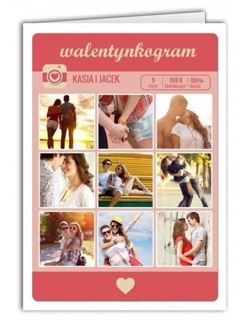 Kartka Walentynkogram