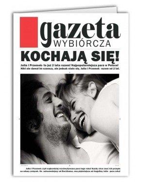 Kartka Kochają Się Gazeta