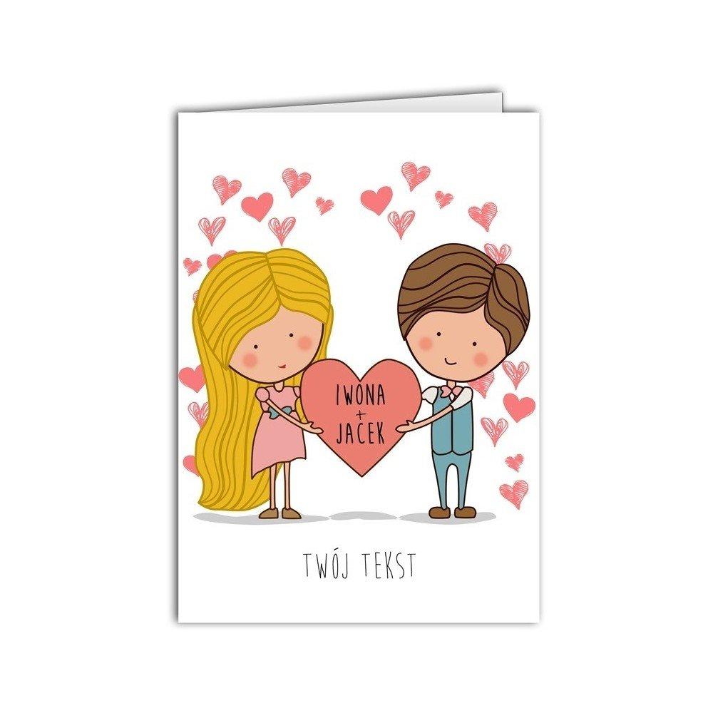kartka zakochana para