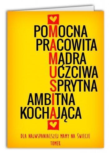Kartka Litery