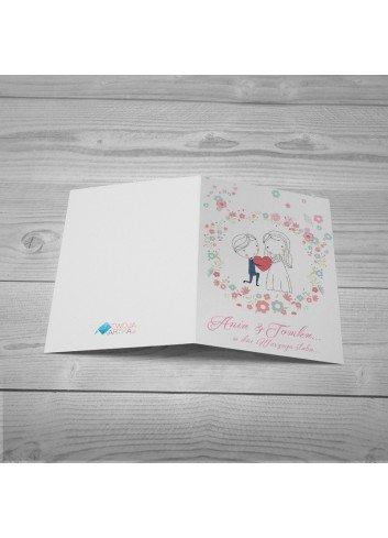 Kartka Ślubny Floral