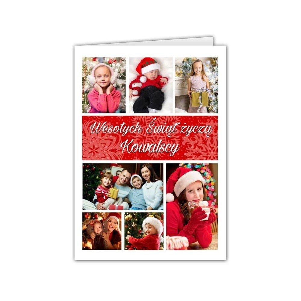 Kartka Świąteczny Kolaż