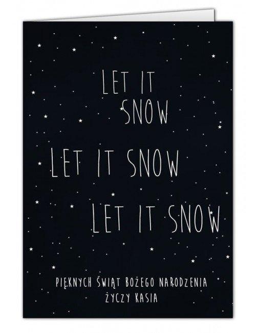 Kartka Let It Snow