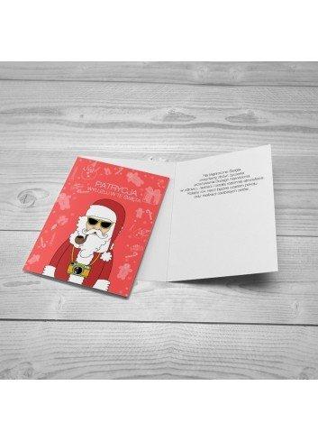 Kartka Wyluzowany Mikołaj