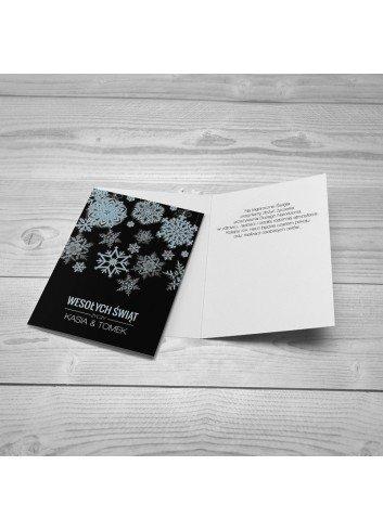 Kartka Płatki Śniegu
