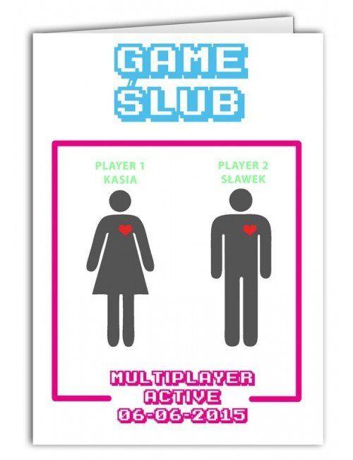 Kartka Game Ślub