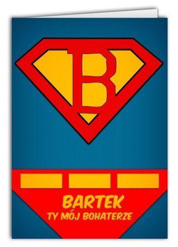 Kartka Imię Superbohater