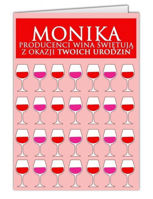 Kartka Wino
