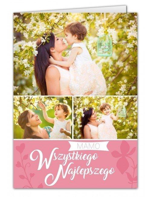 Kartka Różowy Ogród