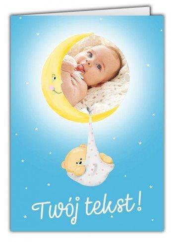 Kartka Baby Shower Księżyc