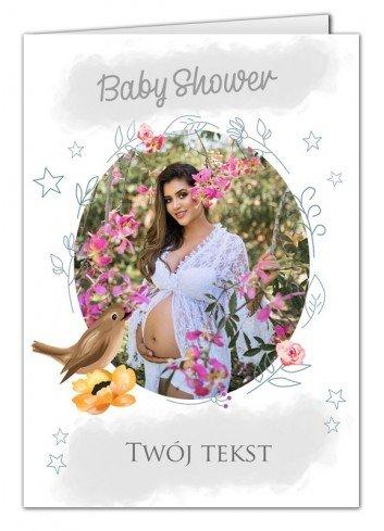 Kartka Baby Shower Jaskółka