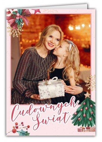 Kartka Cudowne Święta