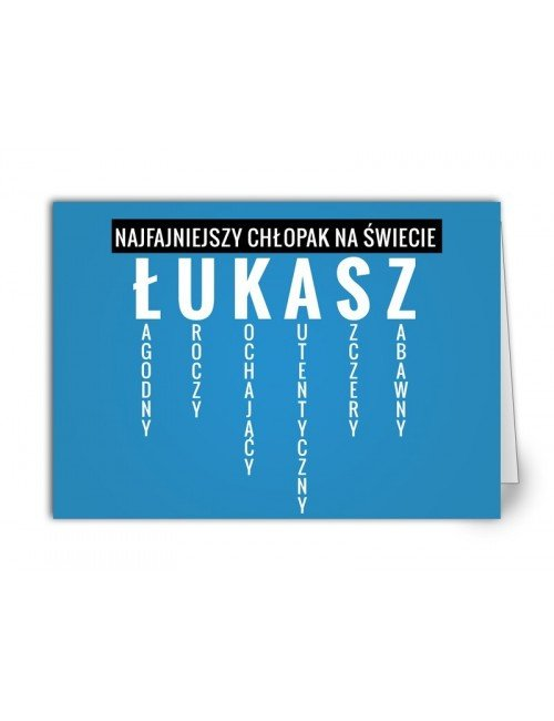 Kartka Łukasz
