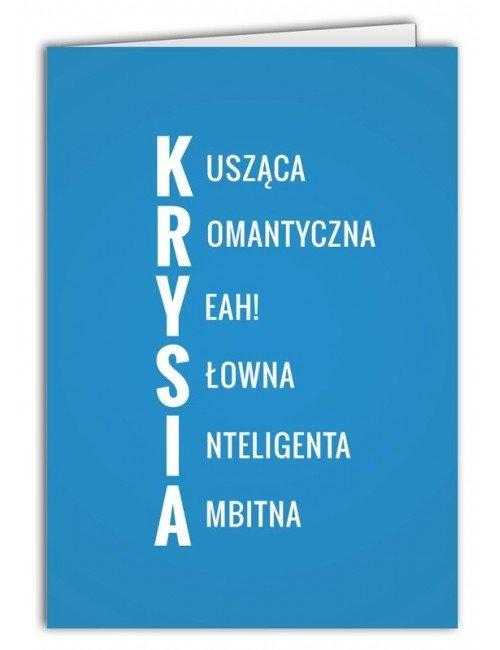Kartka Krysia