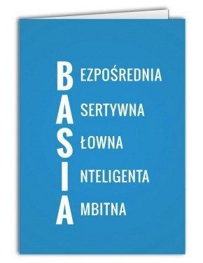Kartka Basia