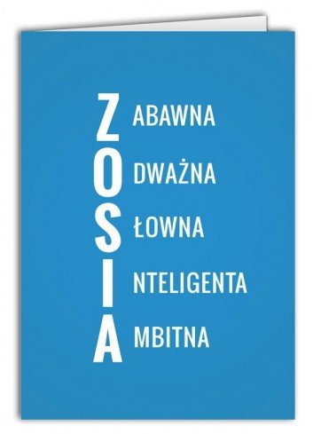 Kartka Zosia