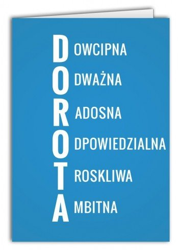 Kartka Dorota