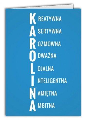 Kartka Karolina