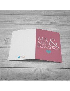 Kartka Mr & Mrs