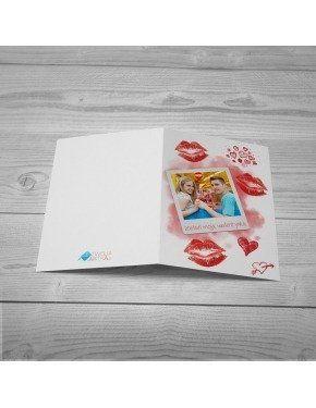 Kartka Polaroid Całusy